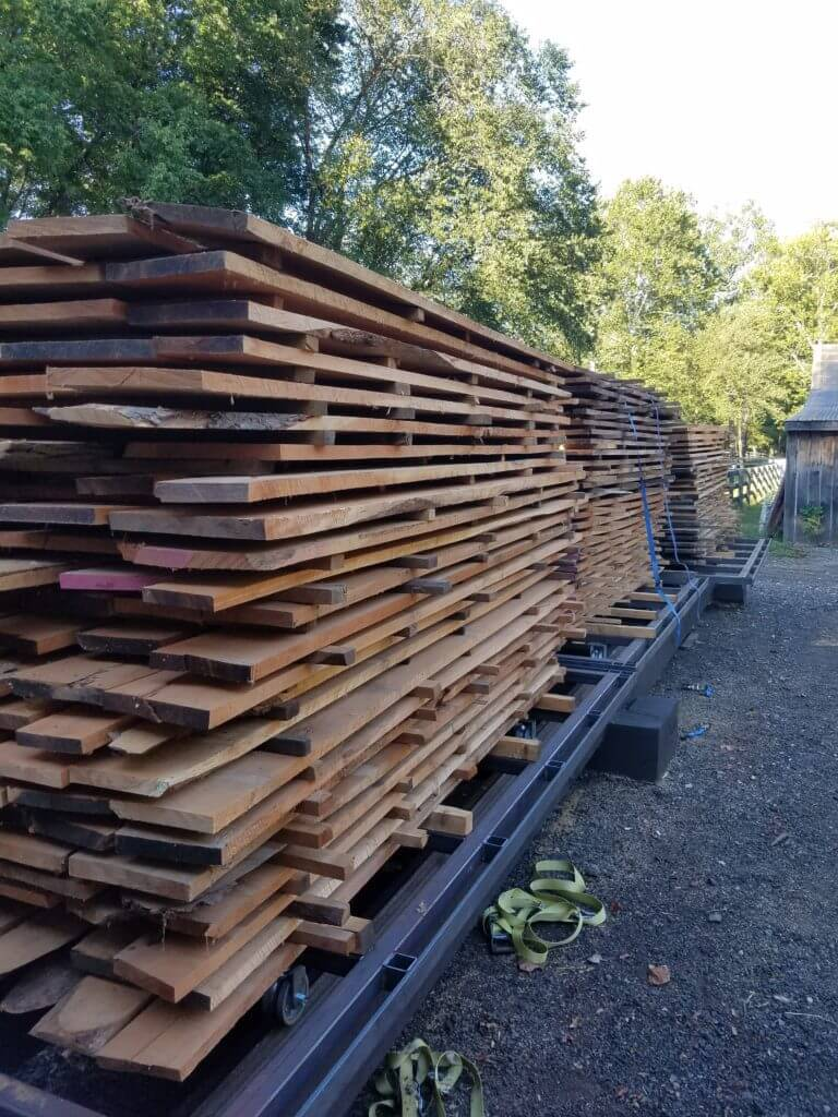 Kiln Dried cherry lumber