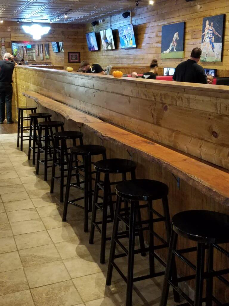 Bar ledge at Velocity Wings