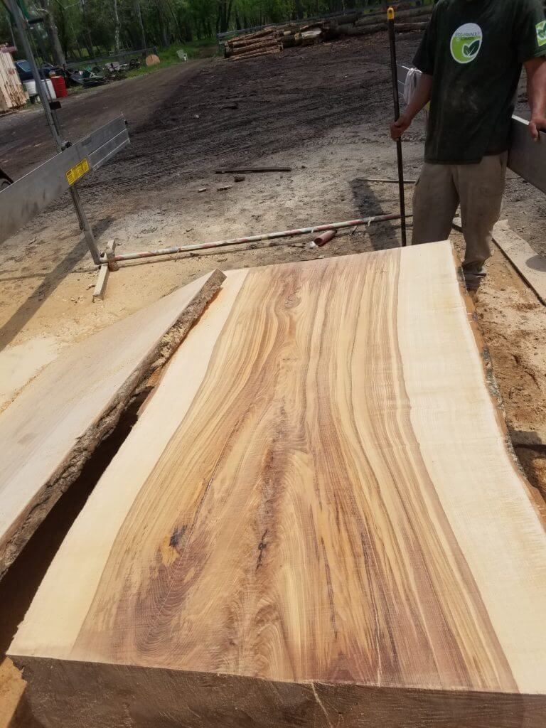 Large live edge slab of ash