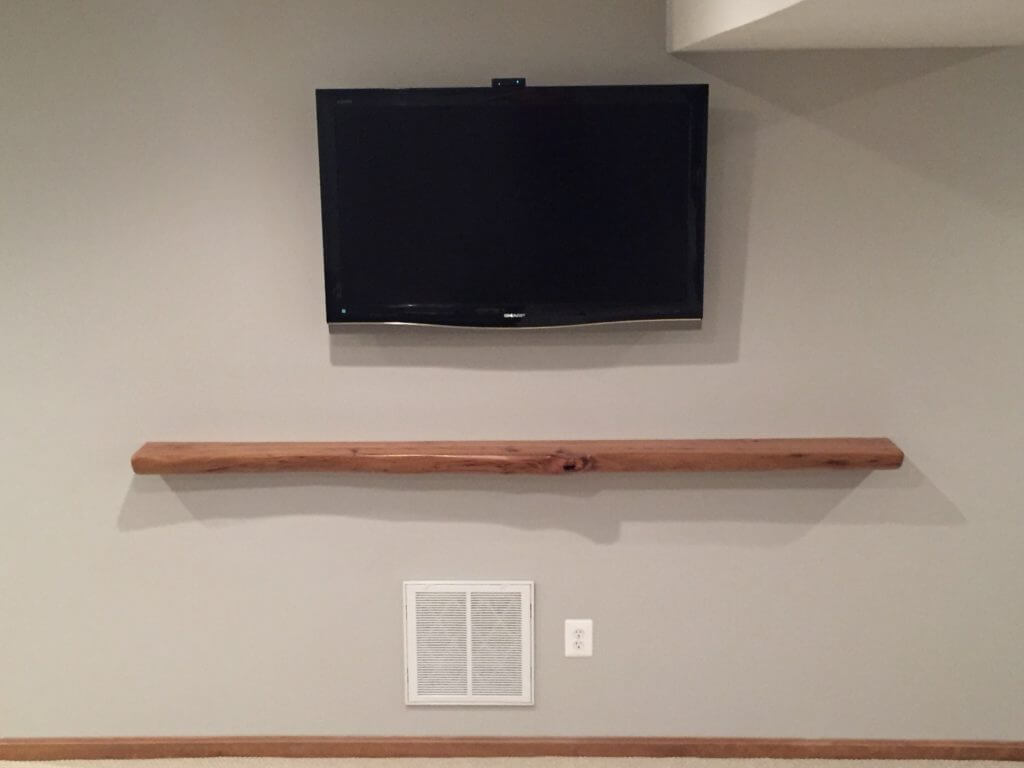 Cedar TV ledge live edge slab
