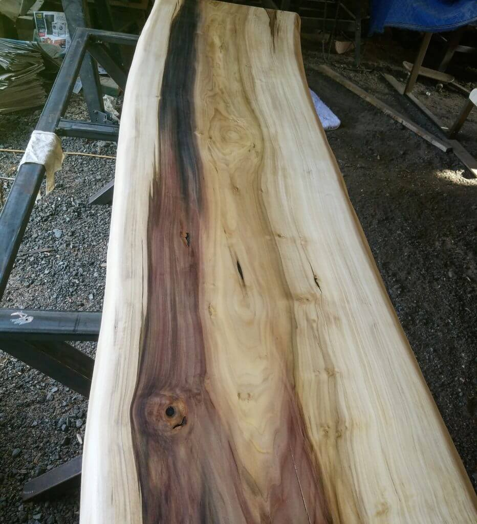 Live edge rainbow poplar wood slab