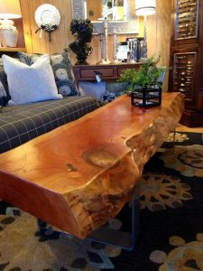 Live edge cherry coffee table slab